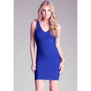 Bebe blue bandage dress size XS